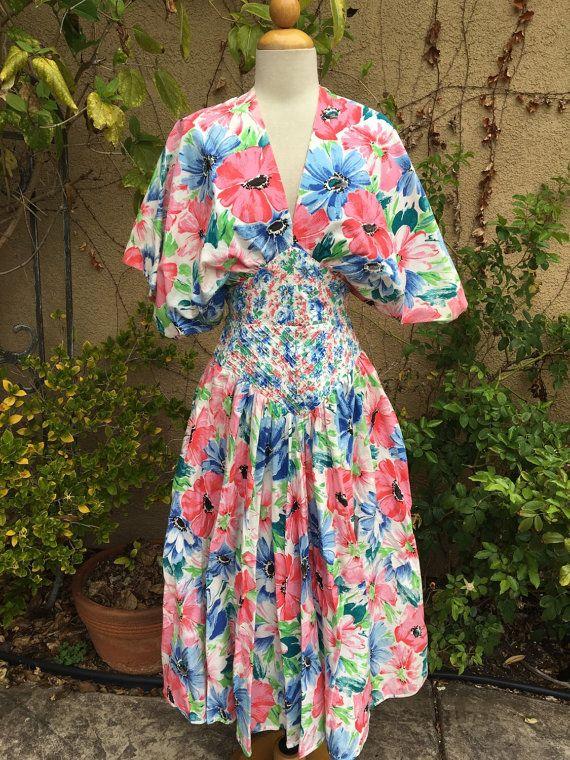 1980s Barboglio Cristina Jan floral kimono by LincolnAvenueVintage