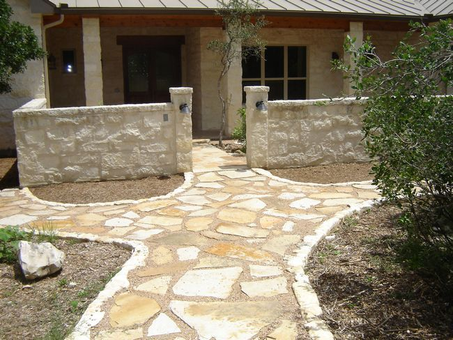 Custom Flagstone Patios Austin Texas - Design and Build