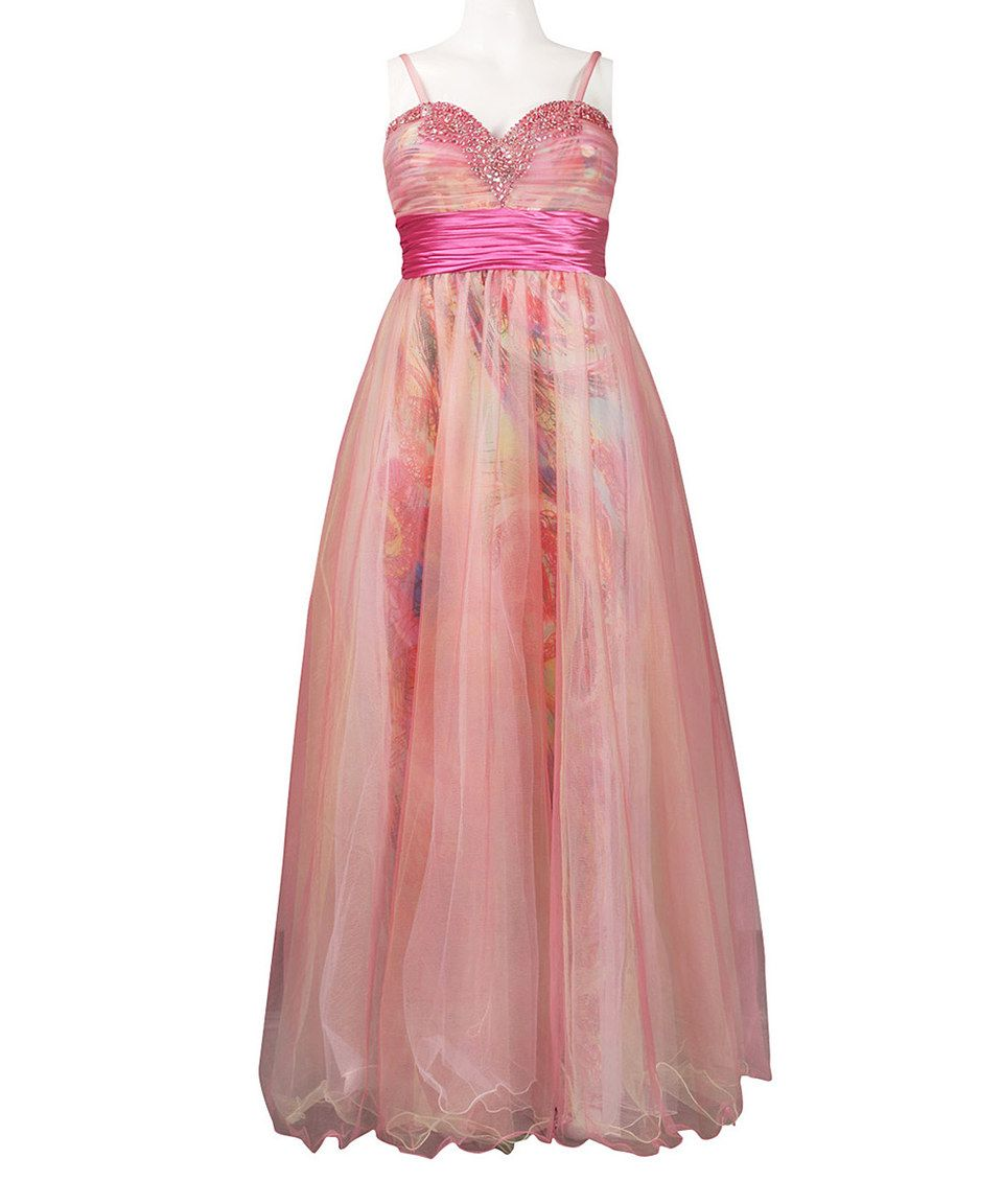 Love this Fuchsia Paisley Silk Sweetheart Gown by New Yorker\'s ...