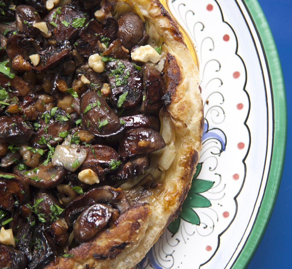 Recipes Delicious Tv Delicious Vegetables Mushroom Tart Stuffed Mushrooms