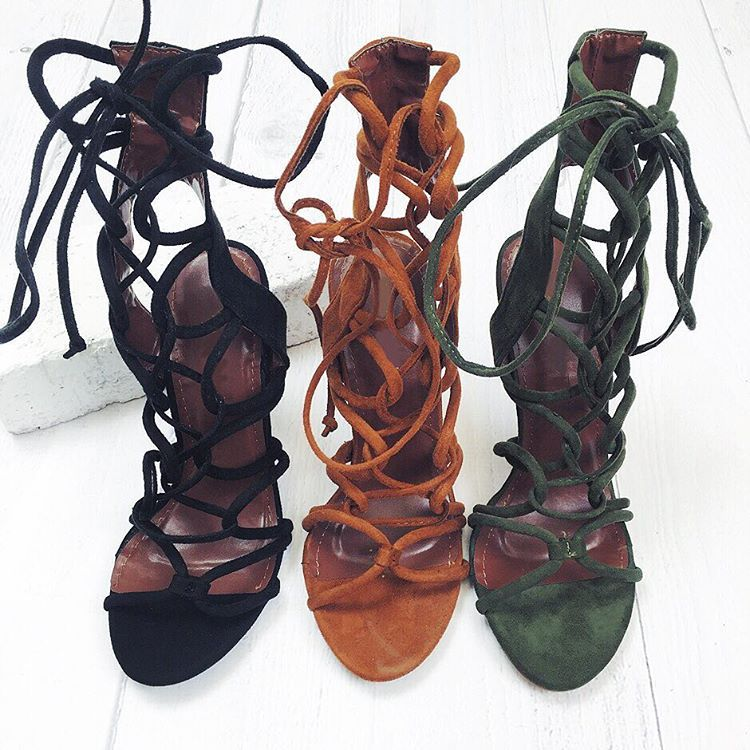 Shop the irresistible comfy and sexy Lanie Lace up Heel at #hauteandrebellious.com
