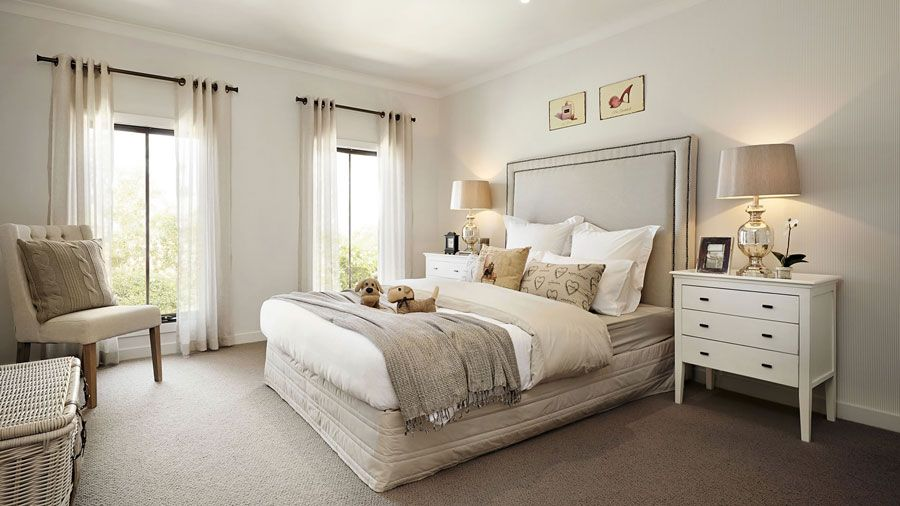 Bedroom Designs Australia visualization for family house with cream color interior in