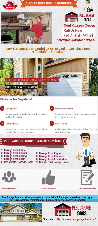 Brampton Garage Door Repair And Installation Services Peel Garage Doors Garage Doors Door Repair Garage Door Repair