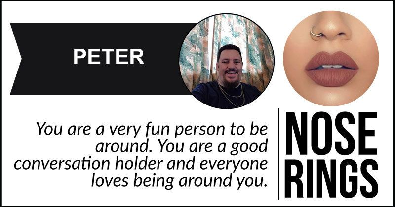 <b>Peter</b>, you are fun-loving, carefree and you live life on your own terns. Share this so that your friends know your true personality.