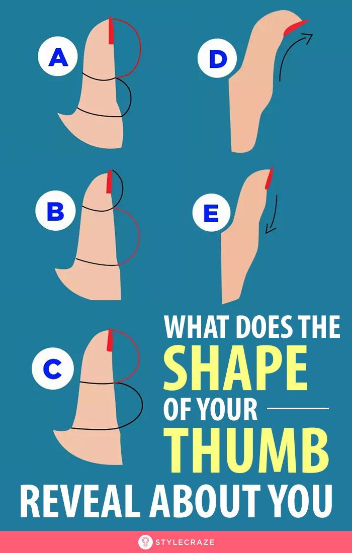 What Does The Shape Of Your Thumb Reveal About You