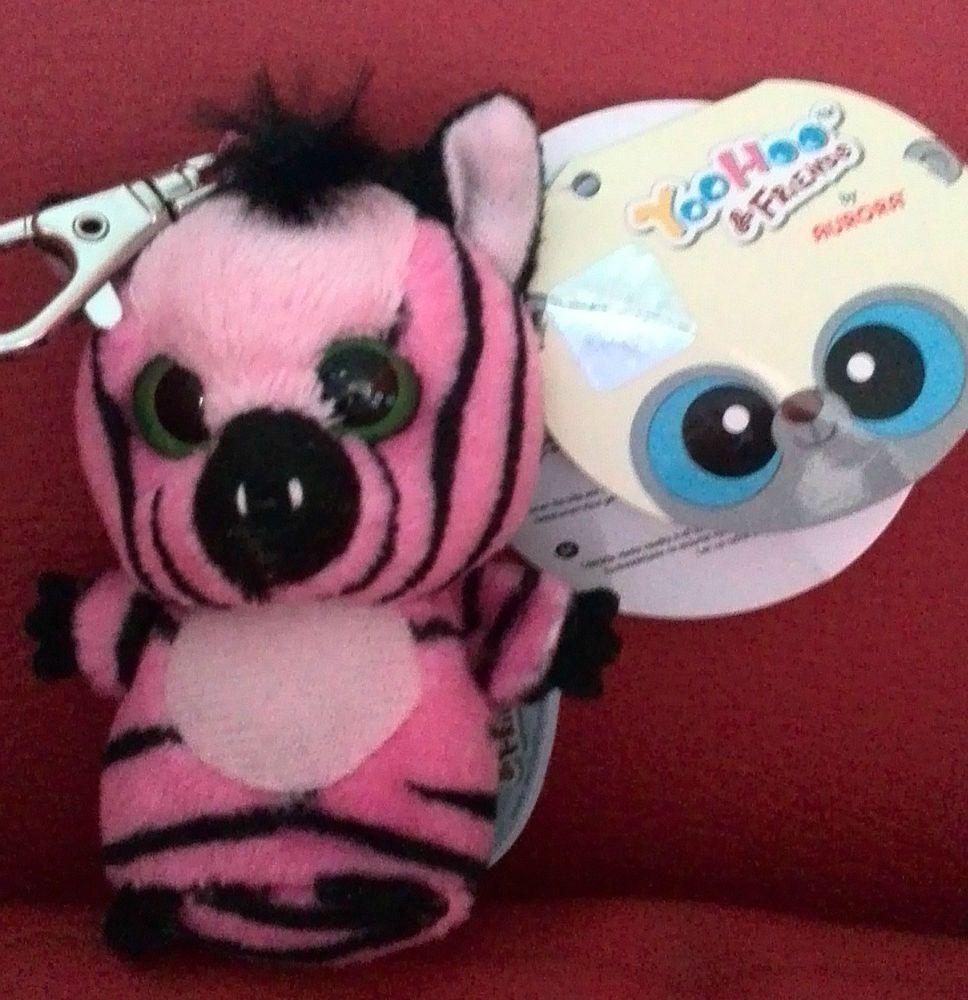 NEW Aurora YooHoo & Friends Stripee the Zebra Keyring Plush soft toy 3 Inches A