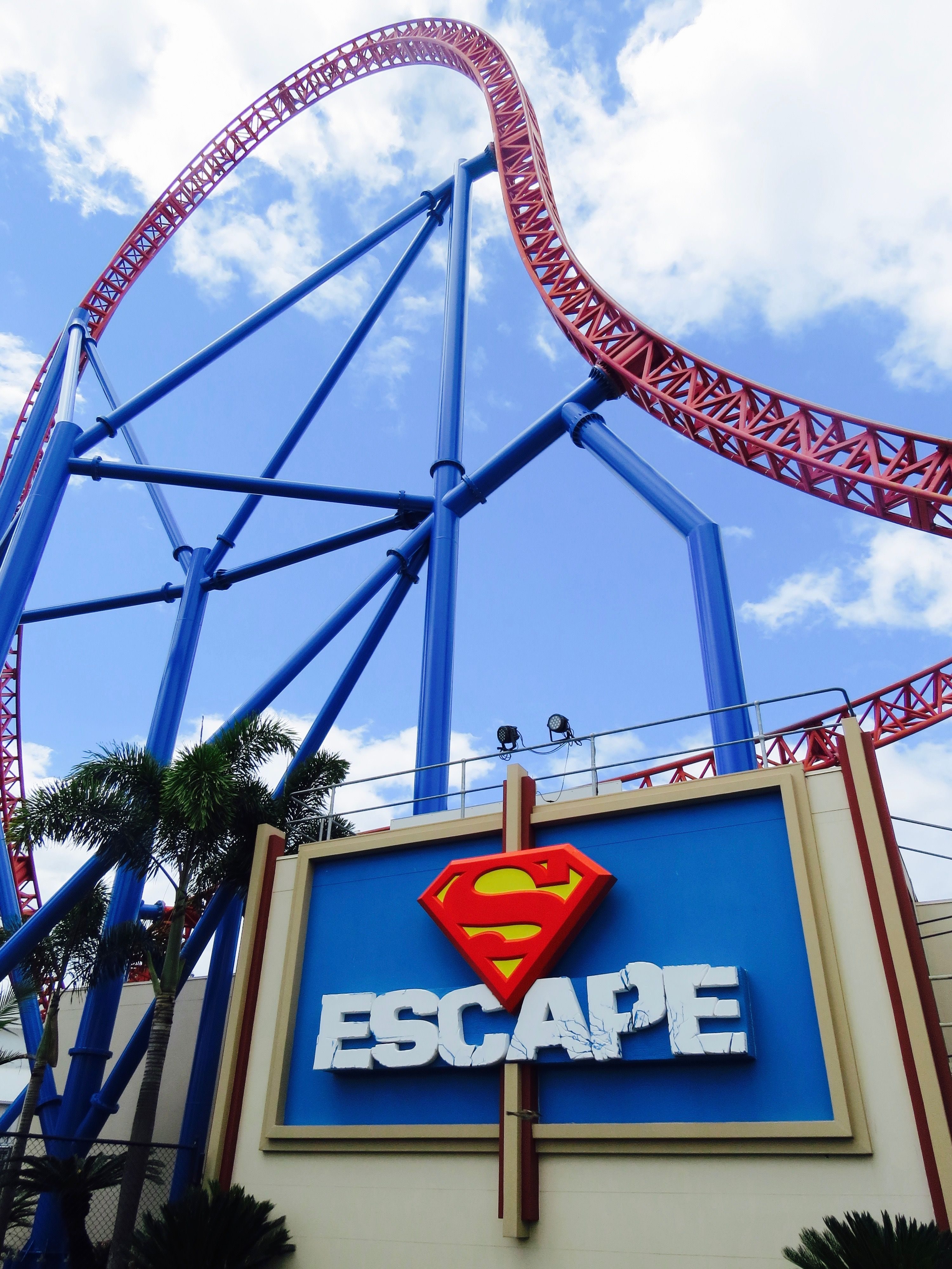 The Superman Ride At Warner Bros Movie World On The Gold Coast
