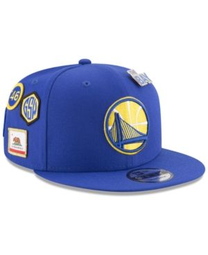 best cheap deee4 bfe34 New Era Boys  Golden State Warriors On-Court Collection 9FIFTY Snapback Cap  - Blue Adjustable