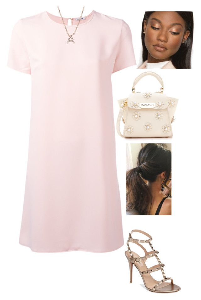 """Ania"" by tmreis on Polyvore featuring P.A.R.O.S.H., ZAC Zac Posen, Bony Levy and Valentino"