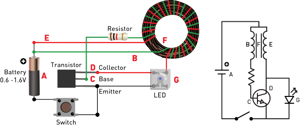 Circuit Diagram For Jeannas Light Variation Of Joule Thief Circuit