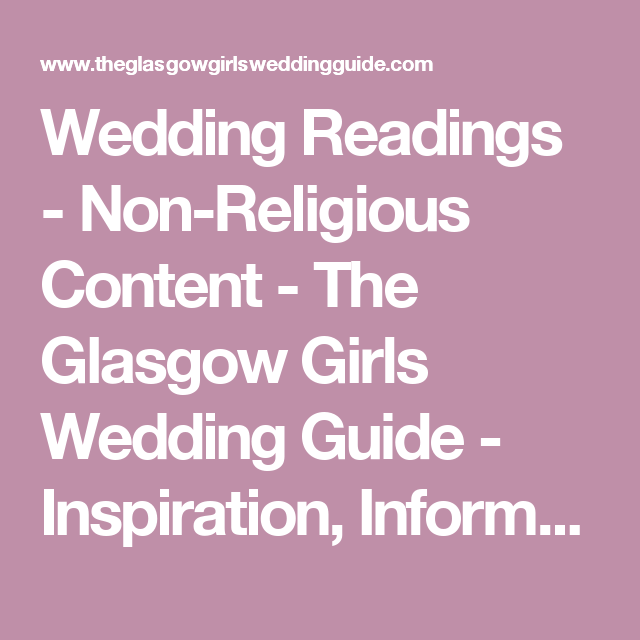 Wedding Readings And Poems Non Religious Content For Us At Civil Or Humanist Ceremonies