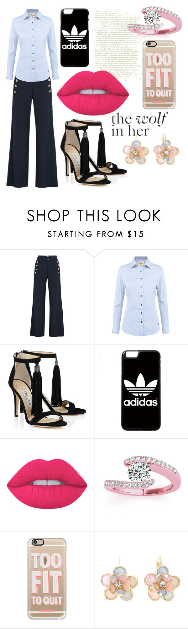 """""""without merit"""" by soidi-illis ❤ liked on Polyvore featuring Chloé, DUBARRY, adidas, Lime Crime, Allurez, Casetify and Mixit"""