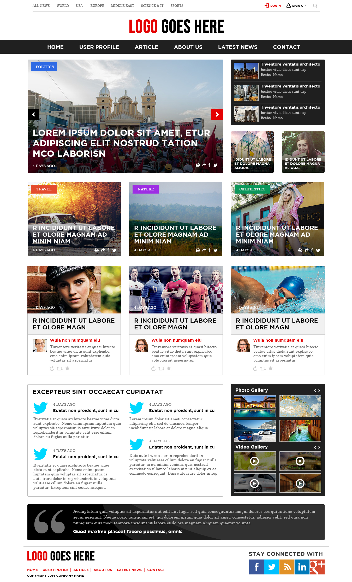 The Website Has Been Designed For A Online News Portal That Provide News Updates Of Different Coun News Web Design News Website Design Wordpress Website Design