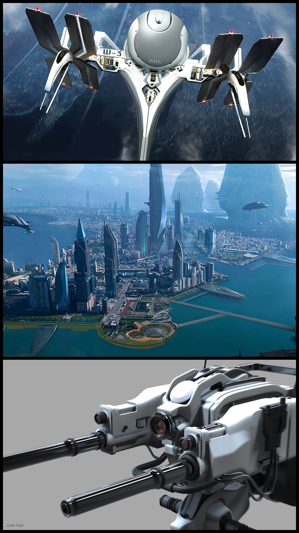 Take a look at some concept art and illustrations by Josh Kao! http://conceptartworld.com/?p=12272