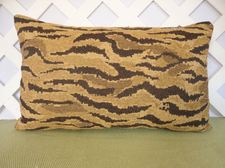 Animal Print Pillow Gold Pillow Cover