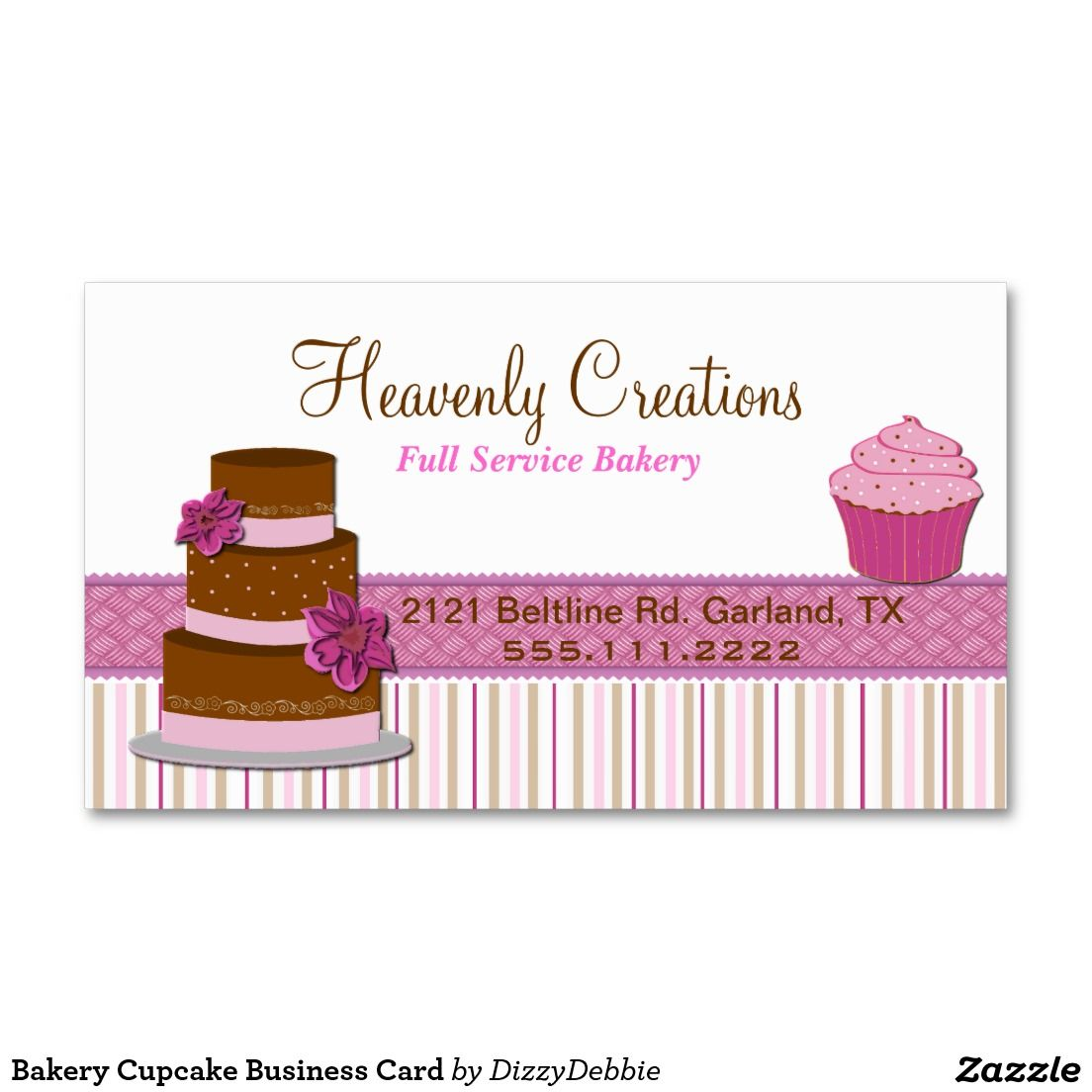 Bakery Cupcake Business Card | Pinterest | Business cards and Business