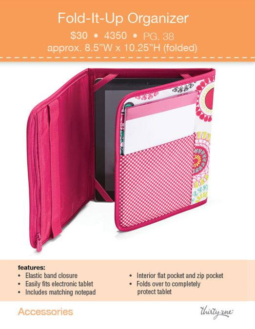 Fold It Up Organizer Thirtyone 31 Stuff Thirty One Purses