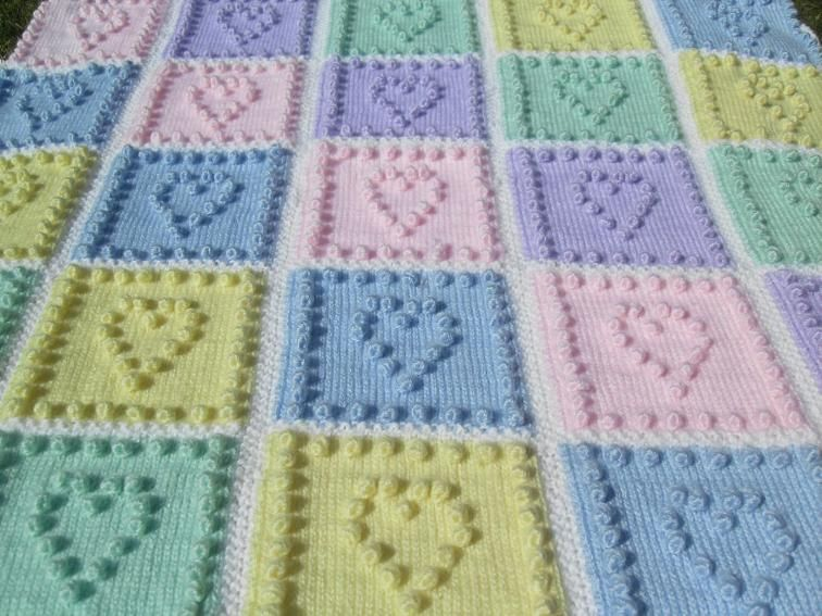Adorable knitted baby blanket! What a great gift! #ad #knitting ...