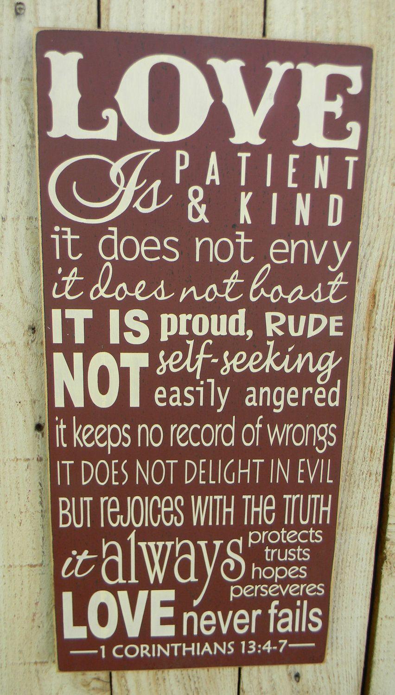 Love is Patient Love is Kind - 1 Corinthians 13 | My Wishlist food ...