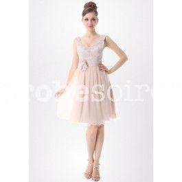 ec40a343c38 Robe à jupe fluide en couleur crème réf EP3702 69 Jupe Fluide