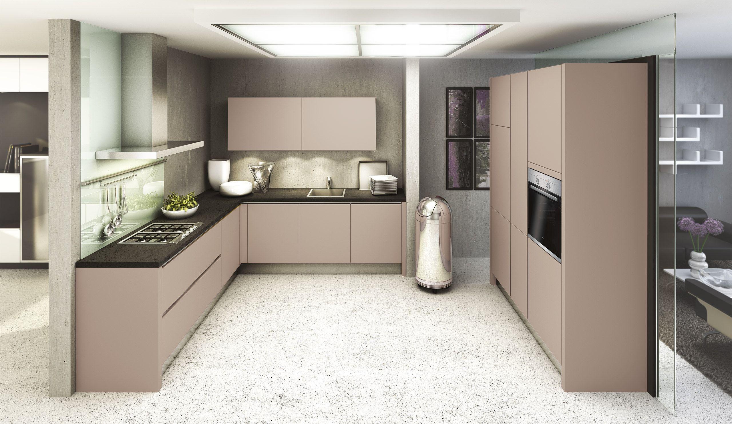 Küche Grau Weiß Cool Collection Wandgestaltung Wohnzimmer
