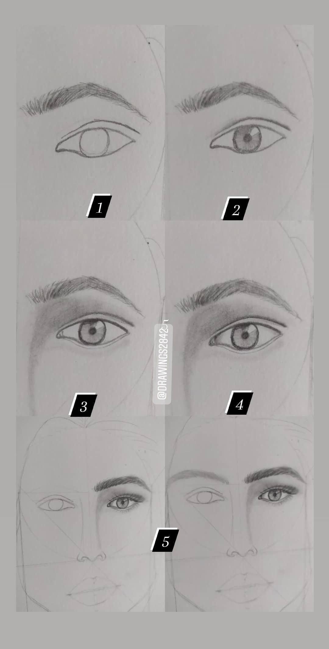 Eye Drawing Steps خطوات رسم العين