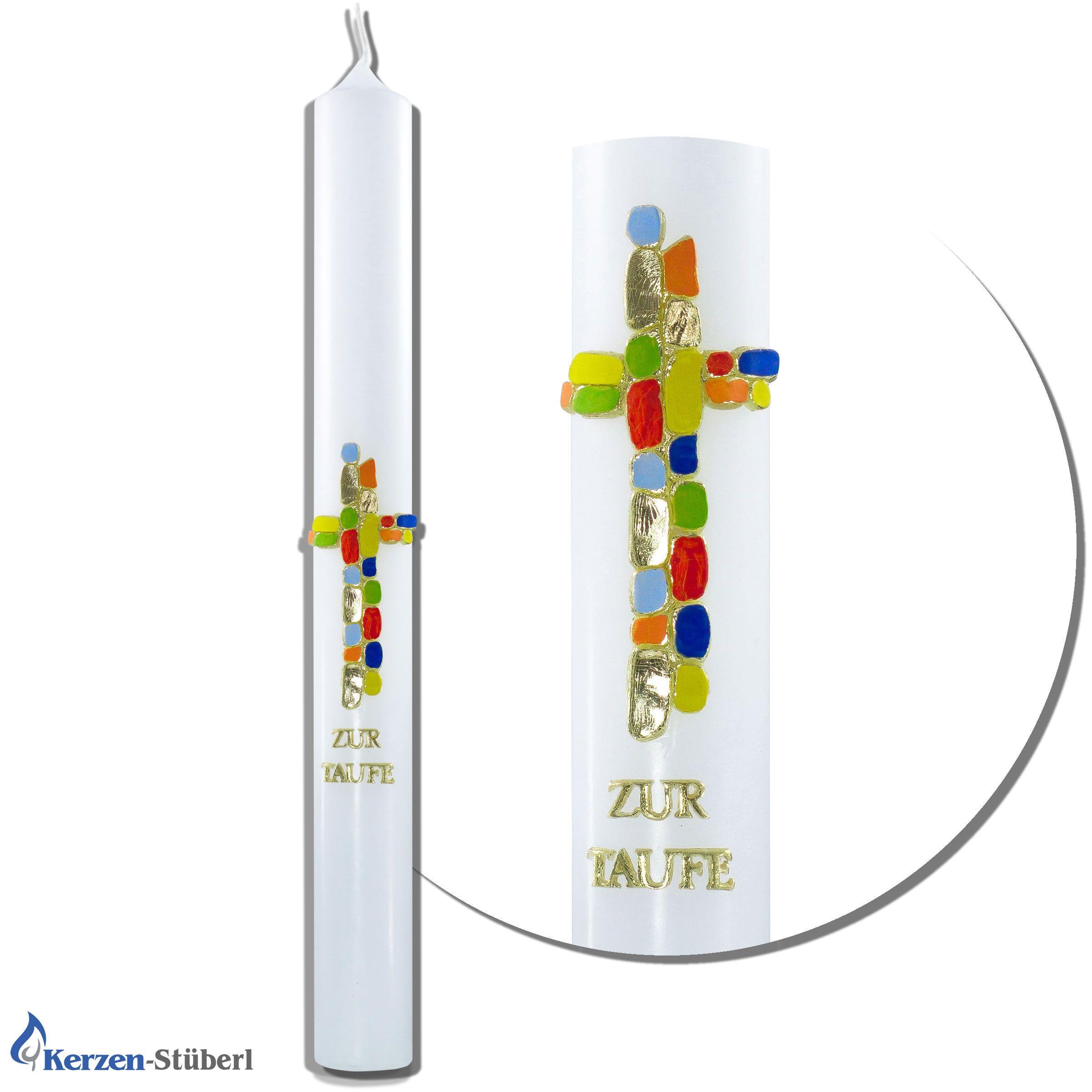 Taufkerze Lang Dunn Mit Mosaik Taufkerze Kerzen Und Zur Taufe
