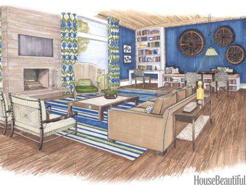 10 Designers' Room Sketches Interior design renderings