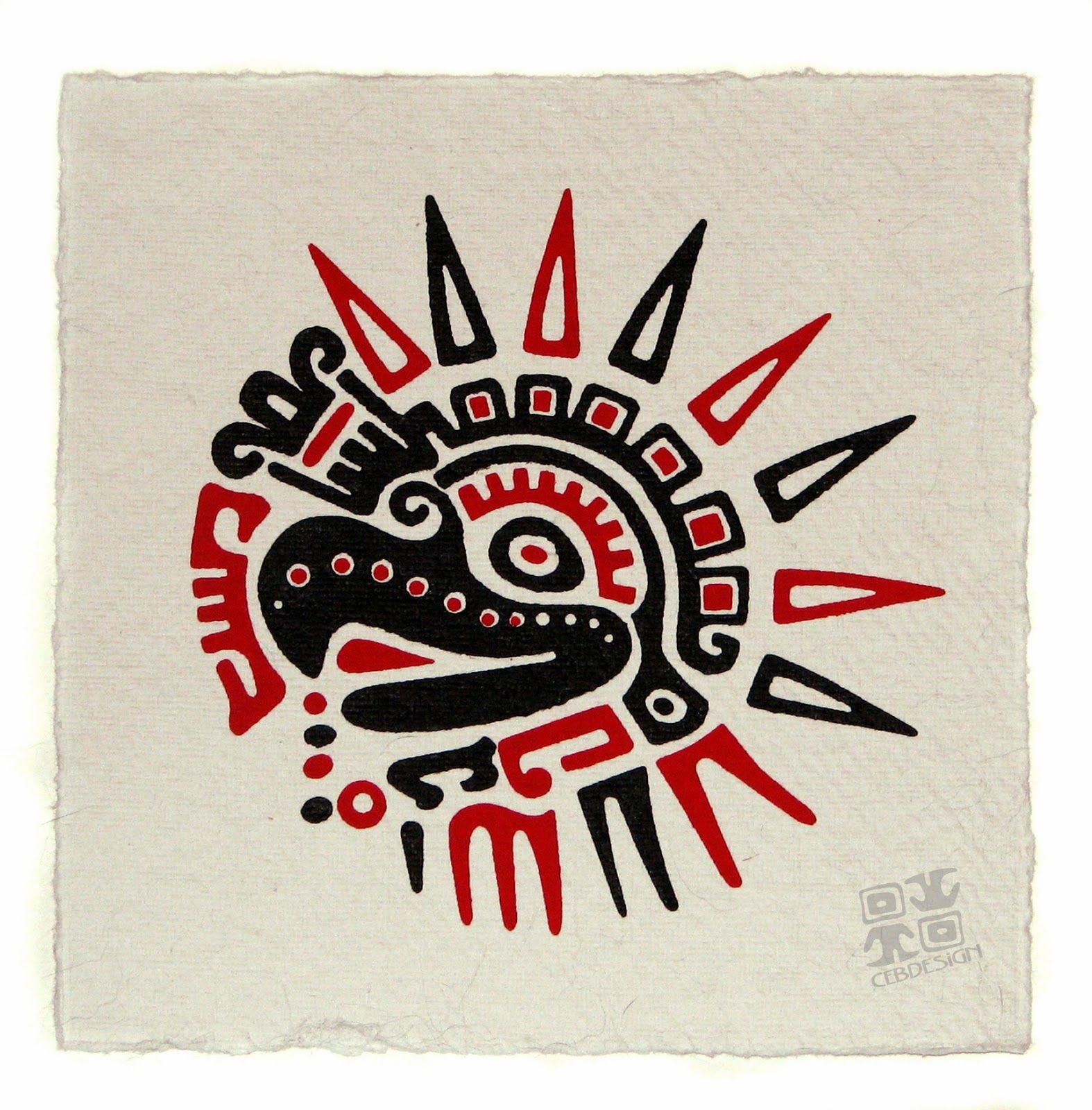 Spreading Wings Tattoo - ₪ AZTEC TATTOOS ₪ Aztec Mayan ...  |Mayan Eagle Tattoos