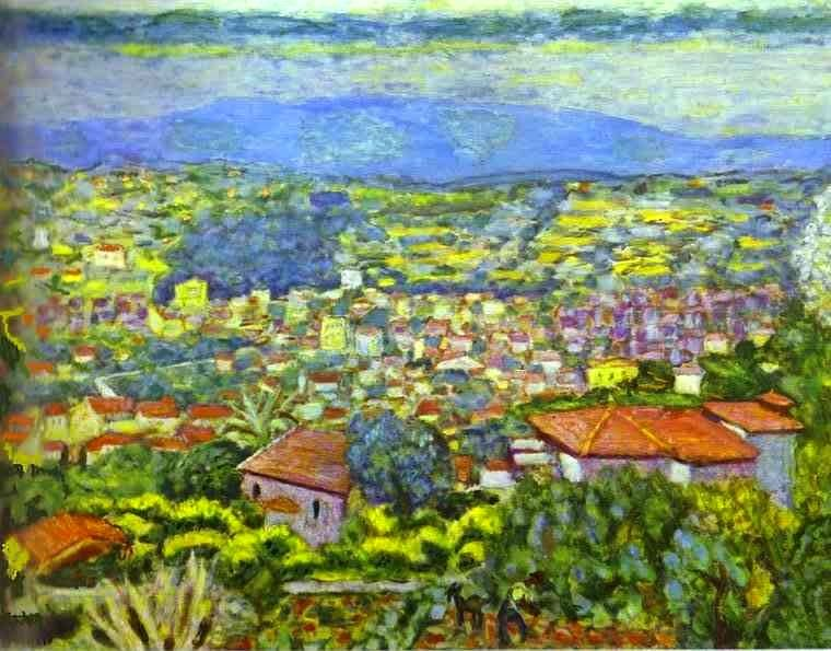 Pierre Bonnard - View of Le Cannet, Roofs. 1941-1942