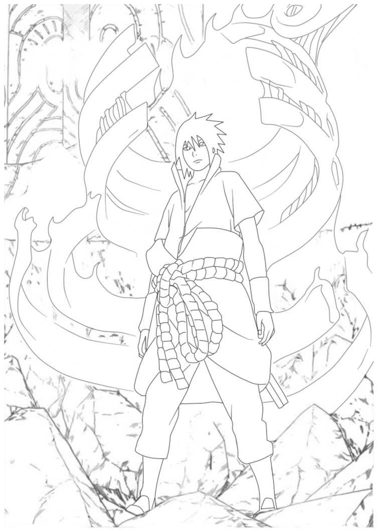 463 Sasuke Amaterasu Lineart by Sahil69 on DeviantArt em