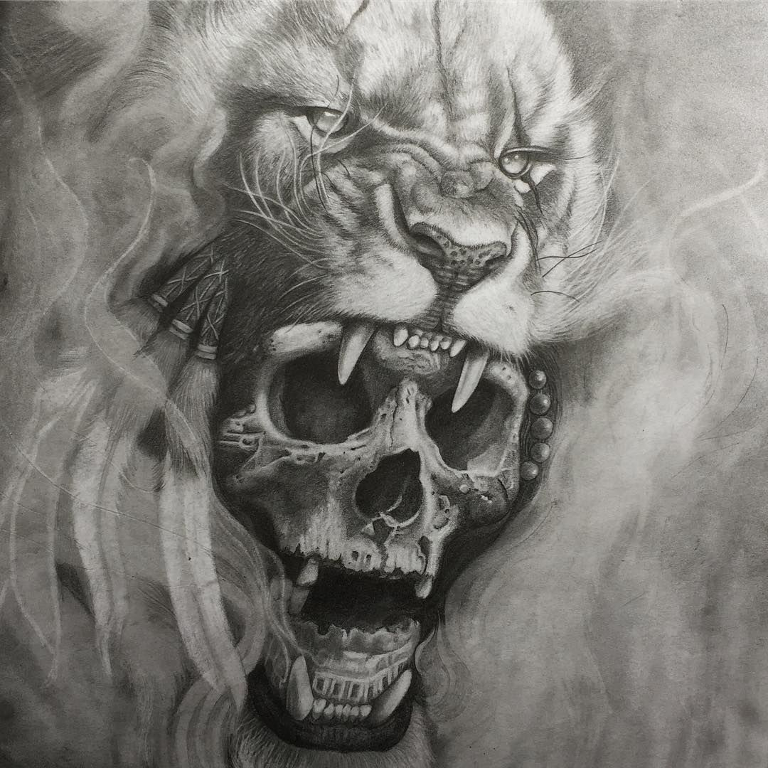 Pin by bishal skull on Tattoo Lion tattoo design, Lion