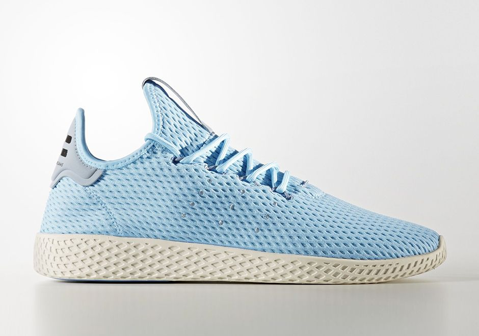 wholesale dealer cdced aa934 Pharrell adidas Tennis Hu Light Blue CP9764