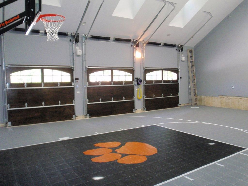 Fitting A Home Basketball Court In Your Backyard Home Basketball Court Basketball Court Backyard Basketball Room