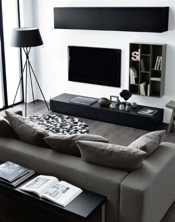 Great Living Room Interior Decorating For Men