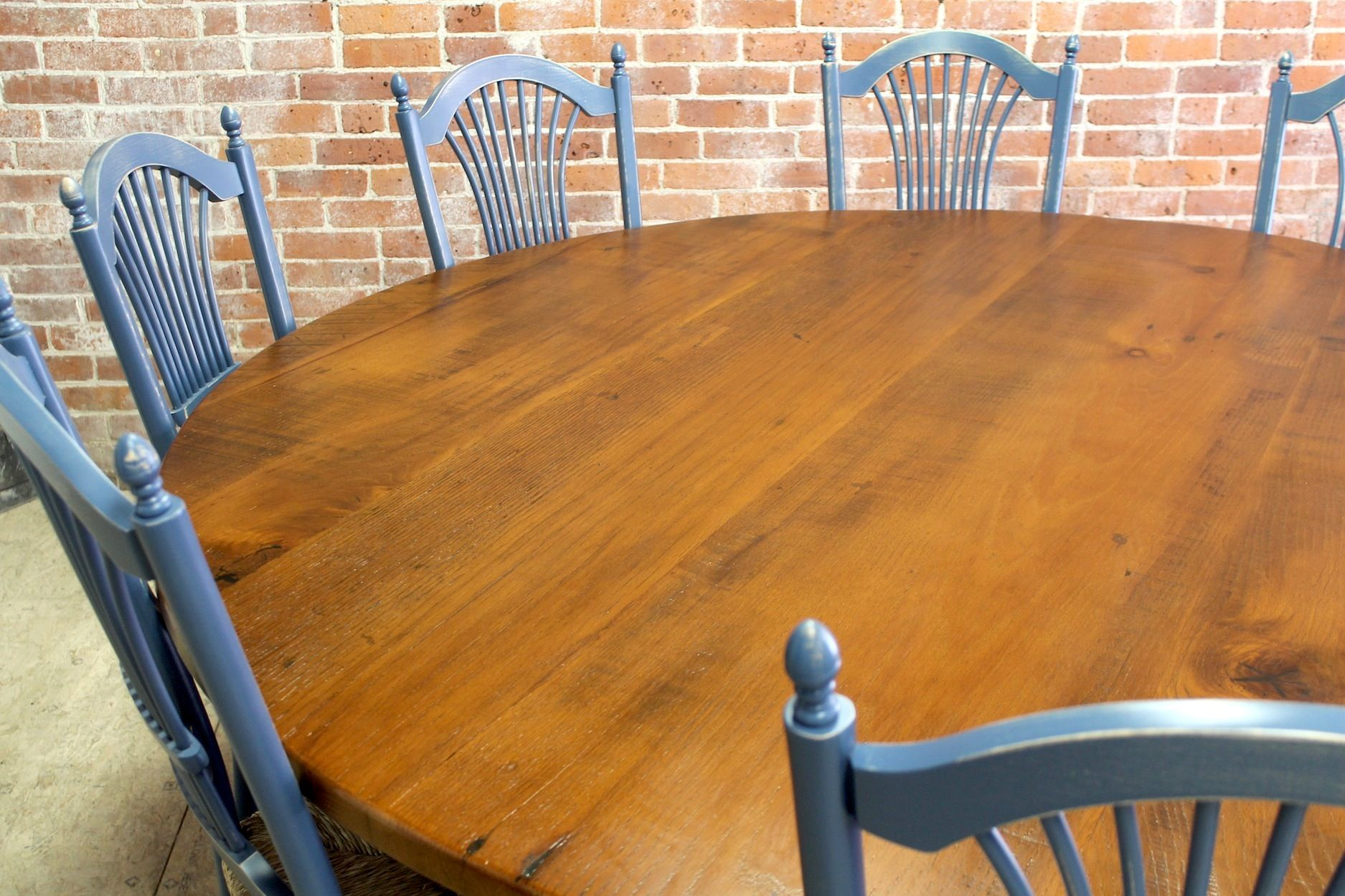 Large 84 Round Pedestal Table Lake And Mountain Home Round Farmhouse Table Farmhouse Style Table Round Dining Table