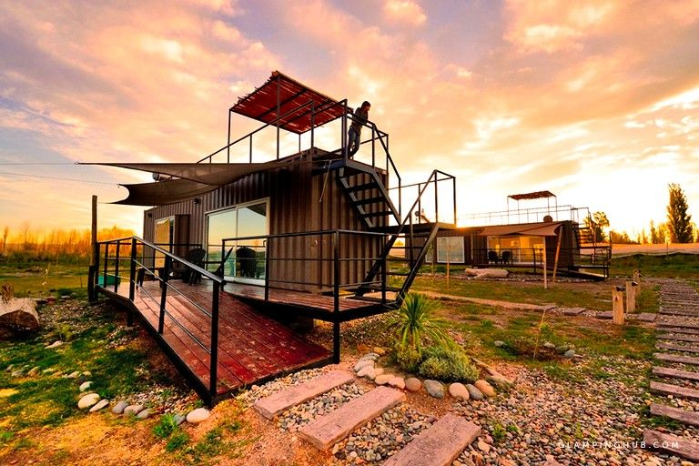 Shipping Container Tiny Cabin w/ Rooftop Terrace #rooftopterrace