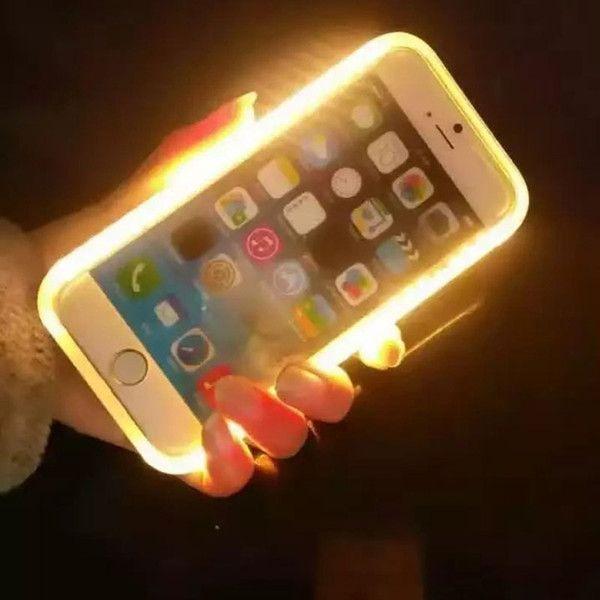 official photos 1275a ccbaa Cheap 2017 New Led Light Up Your Face Luminous Case Selfie Light ...