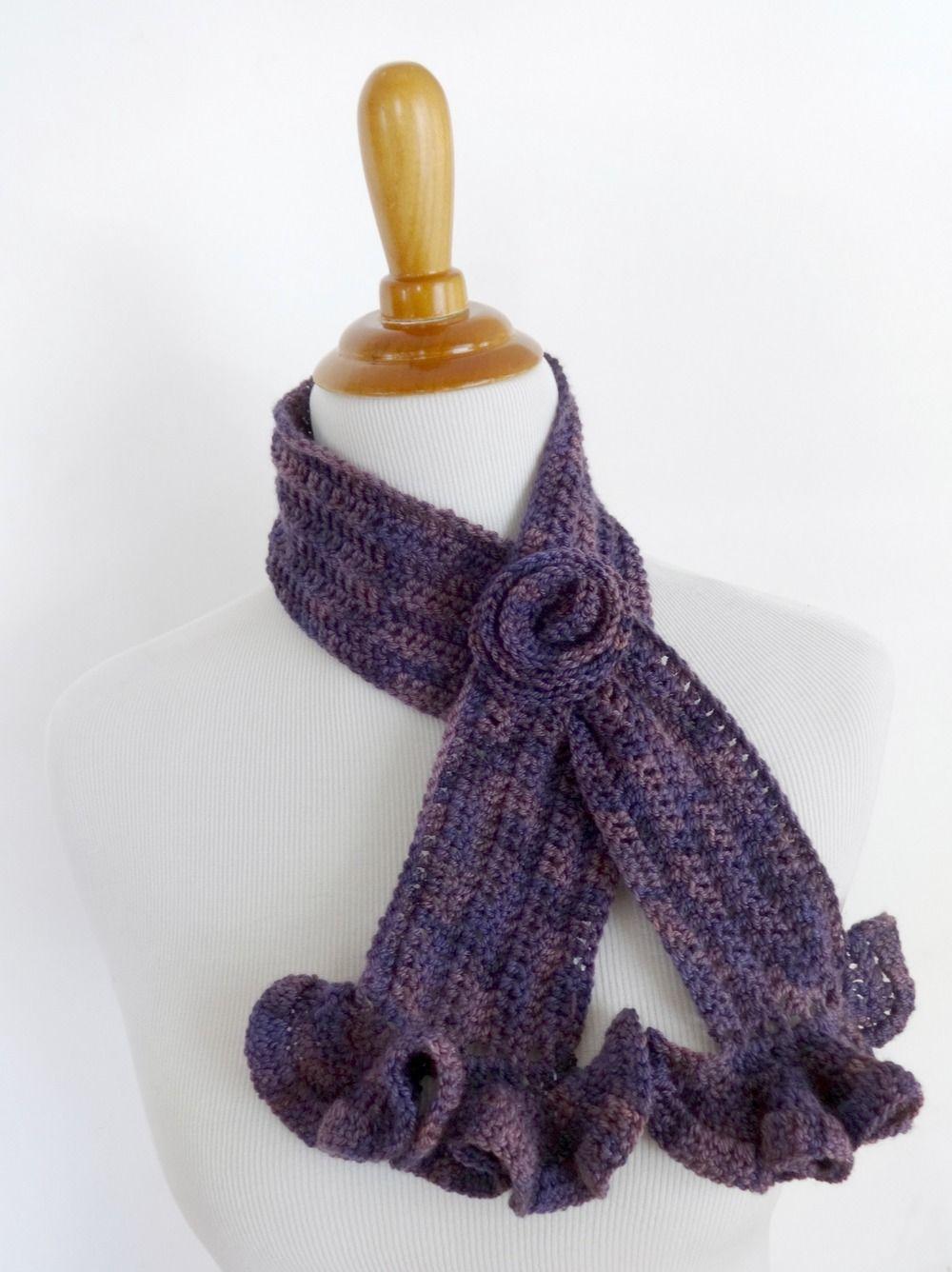 Vintage Blossom Crochet Scarf | Pinterest | Manualidades en crochet ...