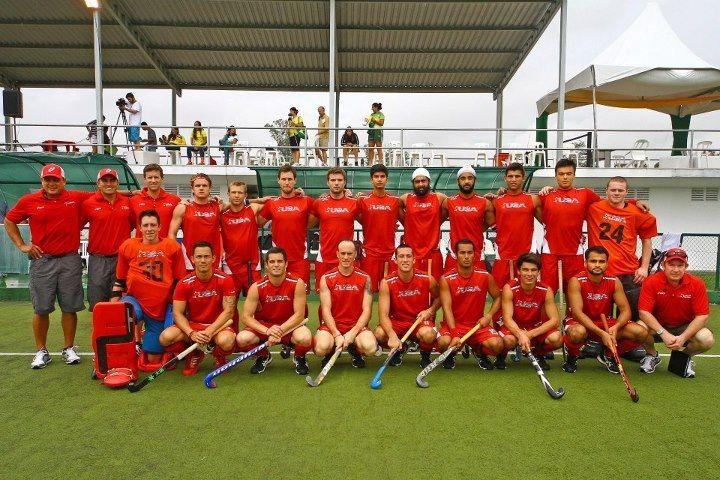 Usa Men S National Field Hockey Team In Brazil After A 5 0 Victory World League Round 2 Field Hockey Hockey Teams Soccer Field