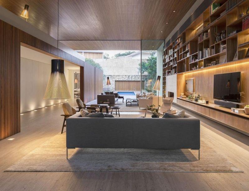 Indirekte Beleuchtung LED -wohnzimmer-fernseher-nische Bar