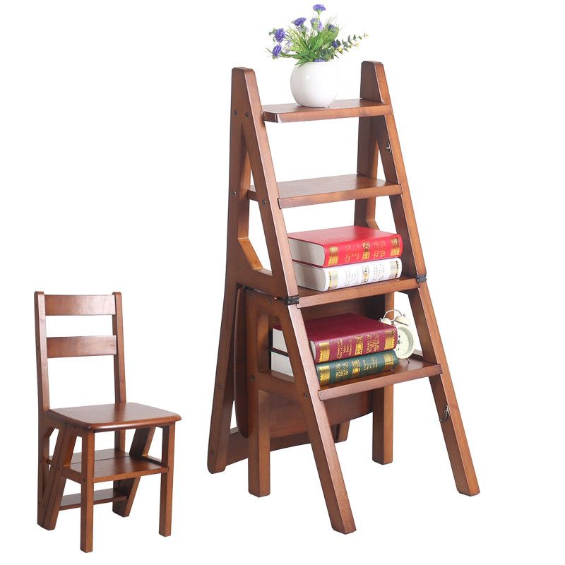 Convertible Multi Functional Four Step Library Ladder Chair In 3 Color Furniture Folding