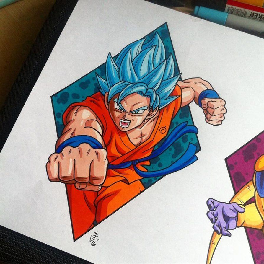 Goku Super Saiyan God Blue Tattoo Design by Hamdoggz on DeviantArt