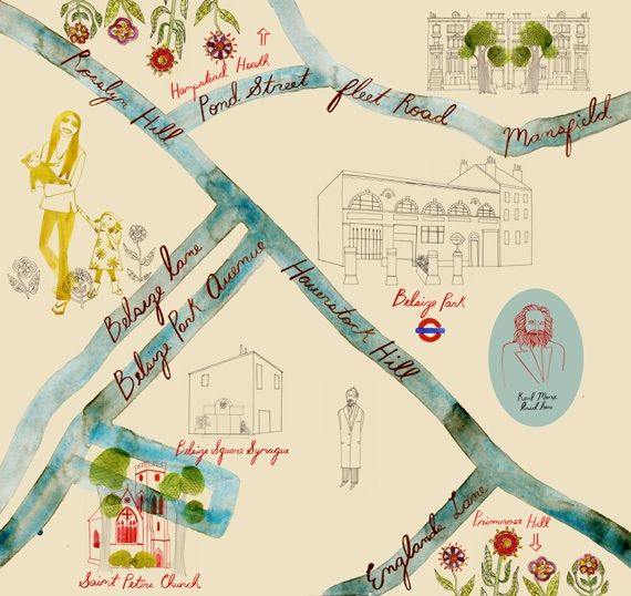 Belsize Park Map London By Trisha Krauss With Images