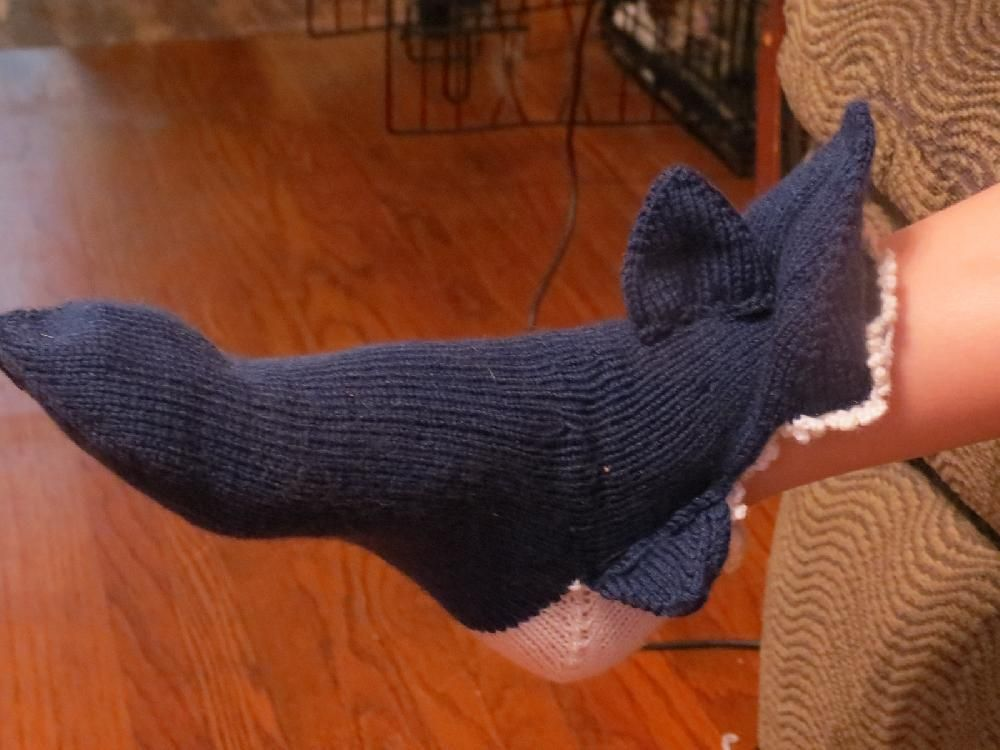 Shark Socks Knitting pattern by Rhonda Westeen | Knitting Patterns | LoveKnitting