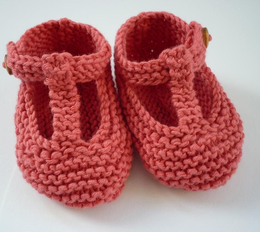 Quinn T Bar Style Baby Shoes Knitting Patterns Bar And Knitting