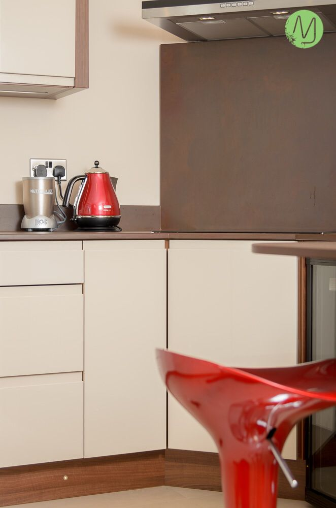 This retro rock 'n' roll red is our kitchen of the week!