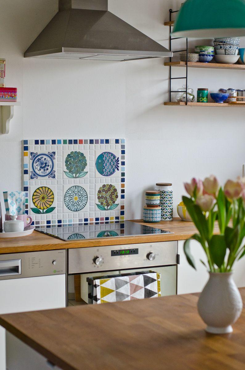 DIY Fliesenspiegel für die Küche aus alten vintage Fliesen vom ...