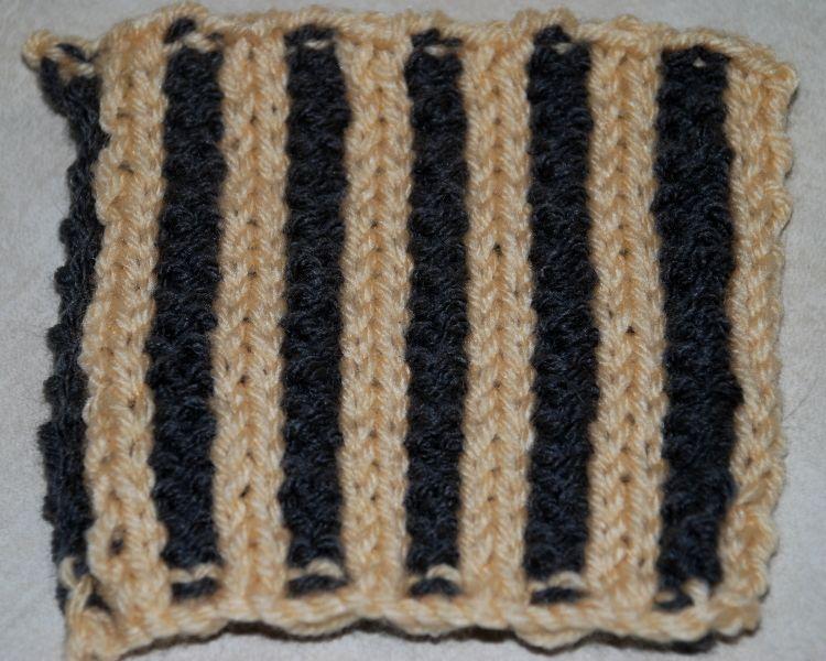 Knitting Ribbing With Two Colors : Knit ribbing in two colors with corrugated rib knitting patterns