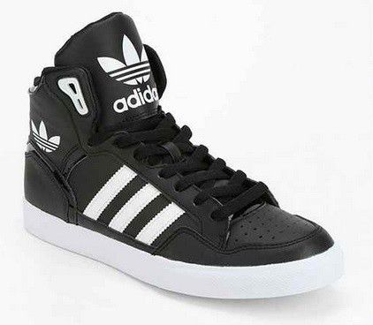 Old School Fitness Fashion: It's Baaaaack. Adidas Originals Extaball  Leather High-Top Sneaker